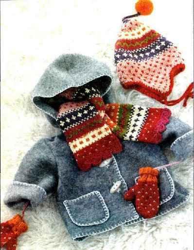 Вязание варежек и шарфов для детей 19