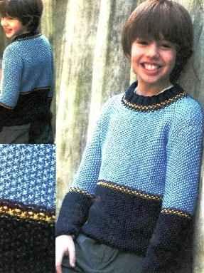 нарядный пуловер для ребенка вяжем спицами и крючком