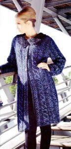 вязаное пальто женское спицами схемы