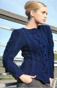схемы вязания женских пуловеров