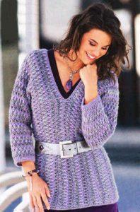 пуловер женский крючком